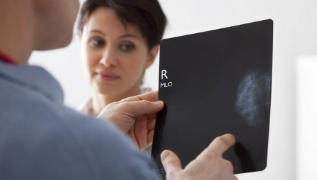 Models.  Consultation with a 40-year-old woman. Mammography.